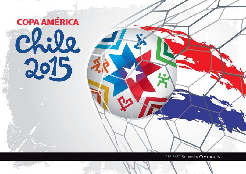 Rede de gol da Copa América Chile