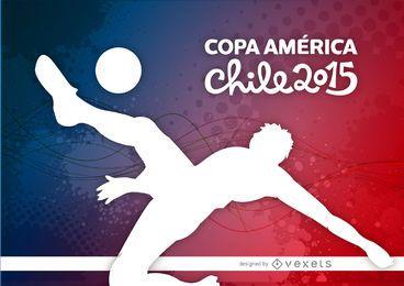 Fundo de chute de jogador da Copa América