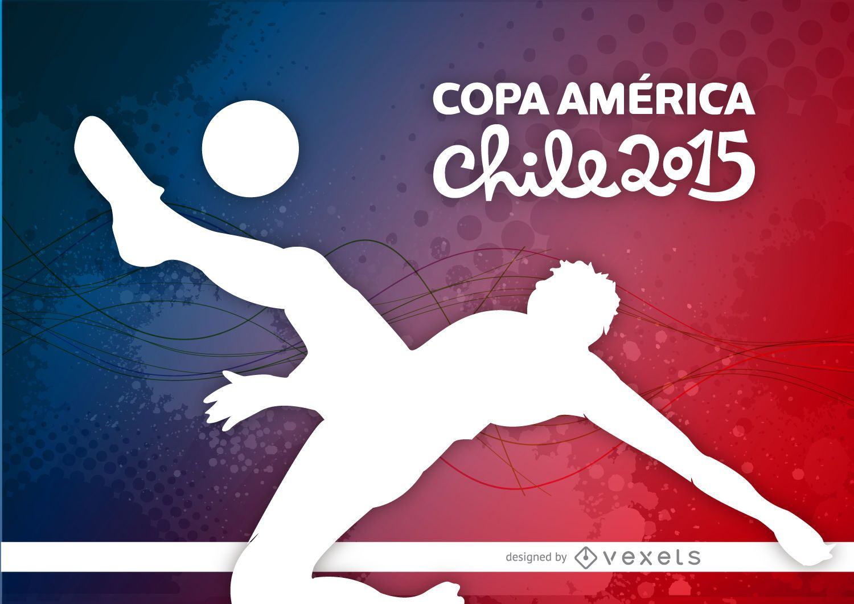 Fondo de patada de jugador de Copa América