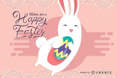 Plantilla de tarjeta dulce de Pascua