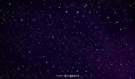 Céu noturno brilhante do espaço sideral