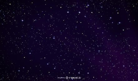 Outer Space Glowing Night Sky