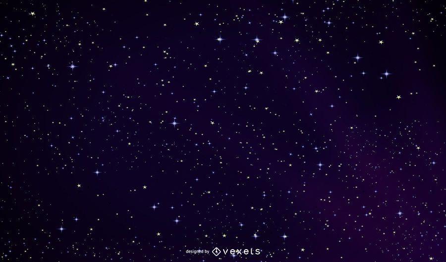 Espacio ultraterrestre cielo nocturno brillante