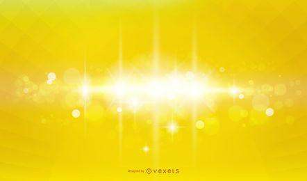 Fundo de efeito de iluminação amarelo brilhante