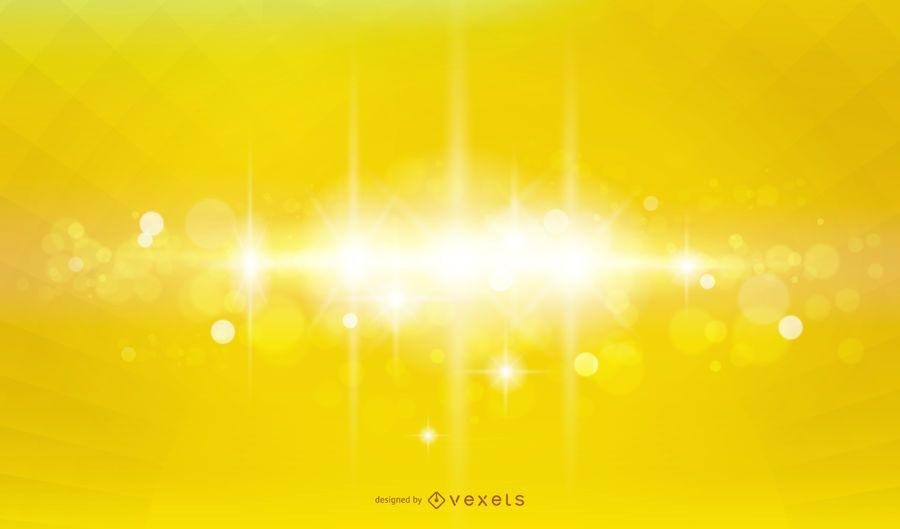 Fondo de efecto de iluminación amarillo brillante