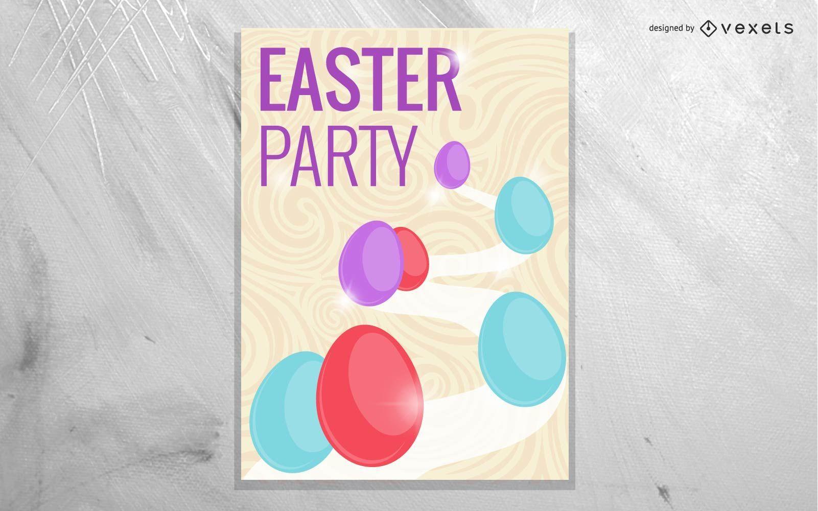 Plantilla hermosa del cartel de Pascua