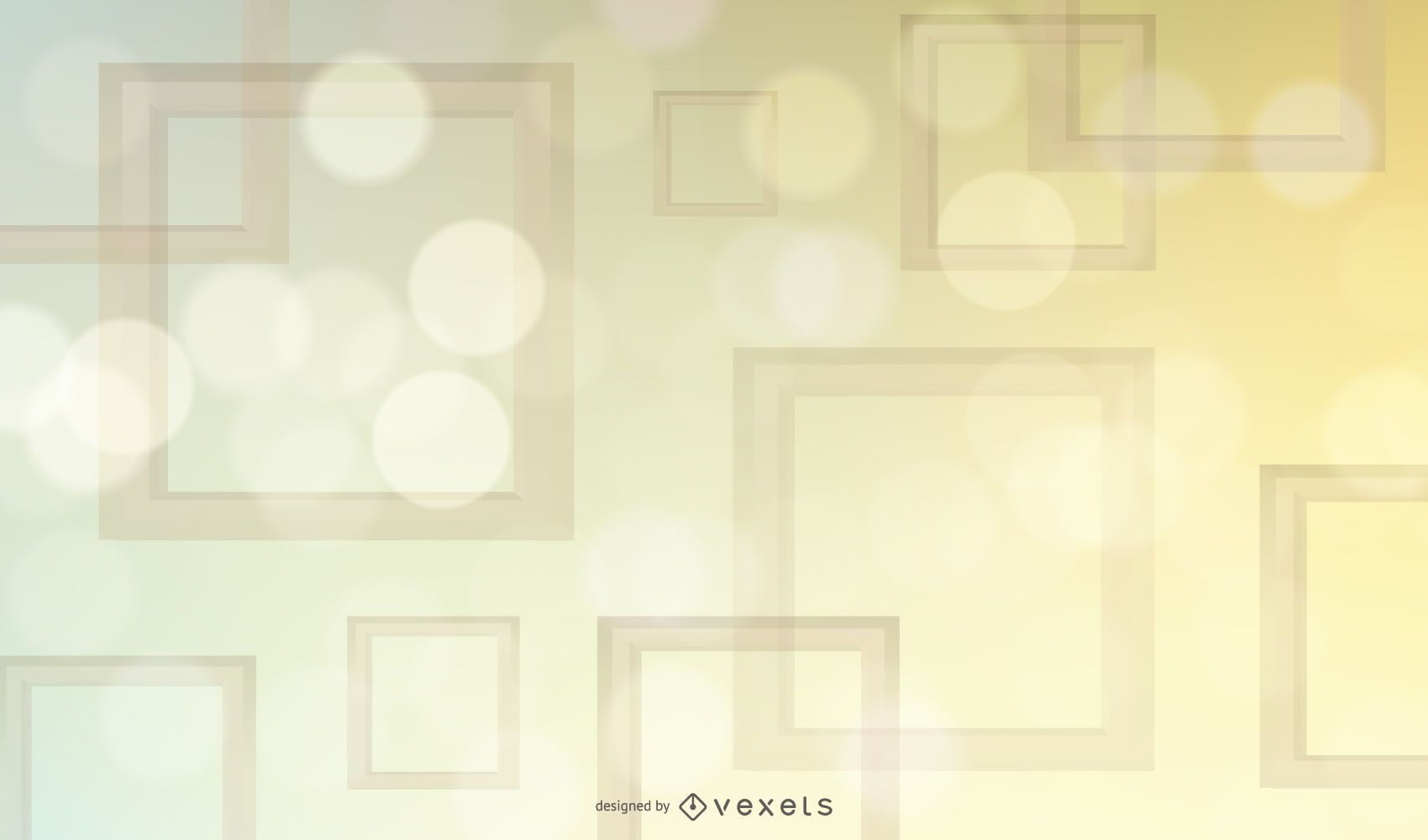 Glowing Colorful Square Frames Background