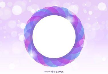 Círculos fluorescentes circular marco de fondo