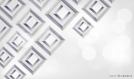 3D diamante quadrado fundo cinza