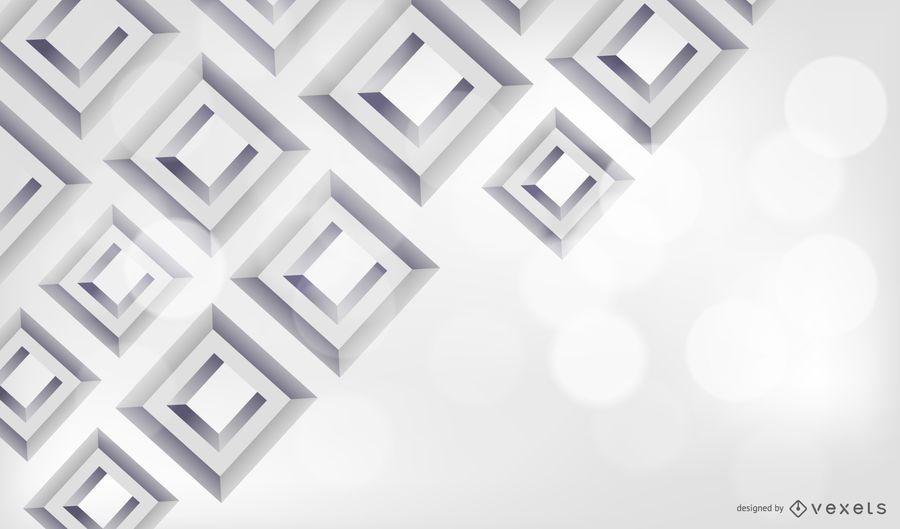 3D Diamond Square Grey Background