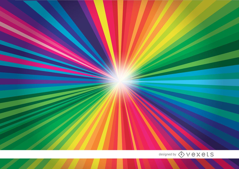 Fondo claro de rayas radiales de colores