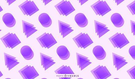 Fundo de círculos de triângulos retângulos cristalizados