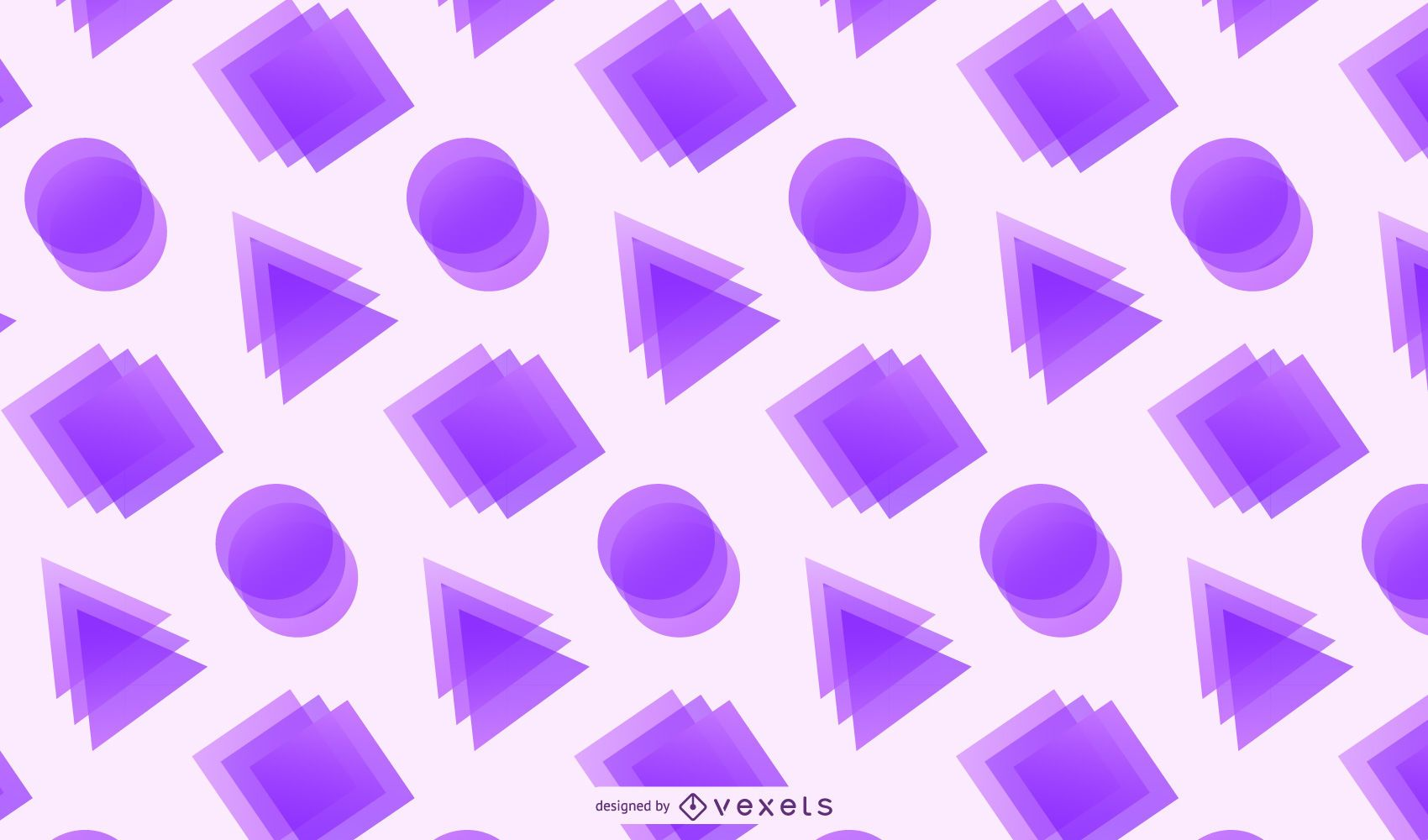 Crystallized Rectangles Triangles Circles Background