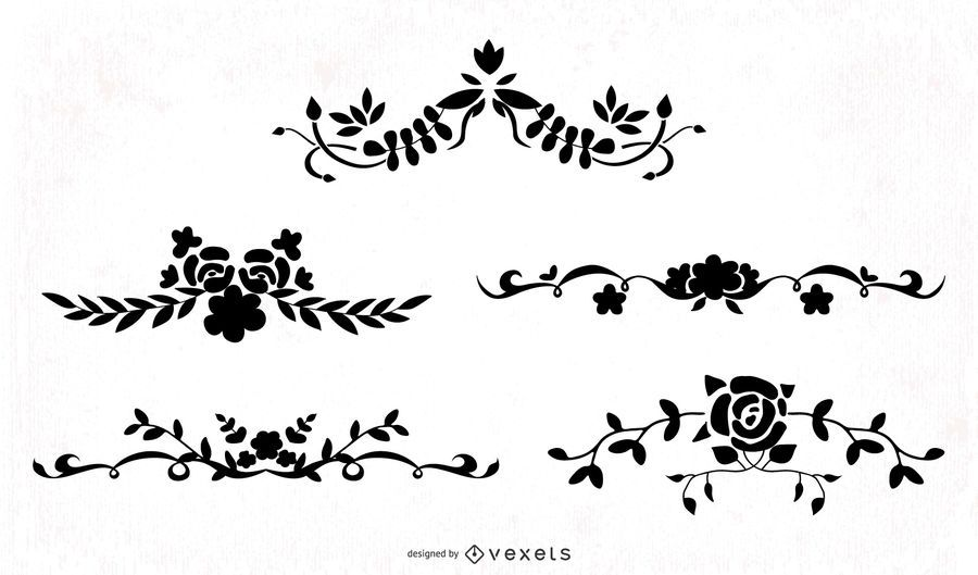 Ornamental Floral Swirls Pack