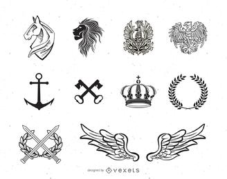 Heraldische Element-Sammlung