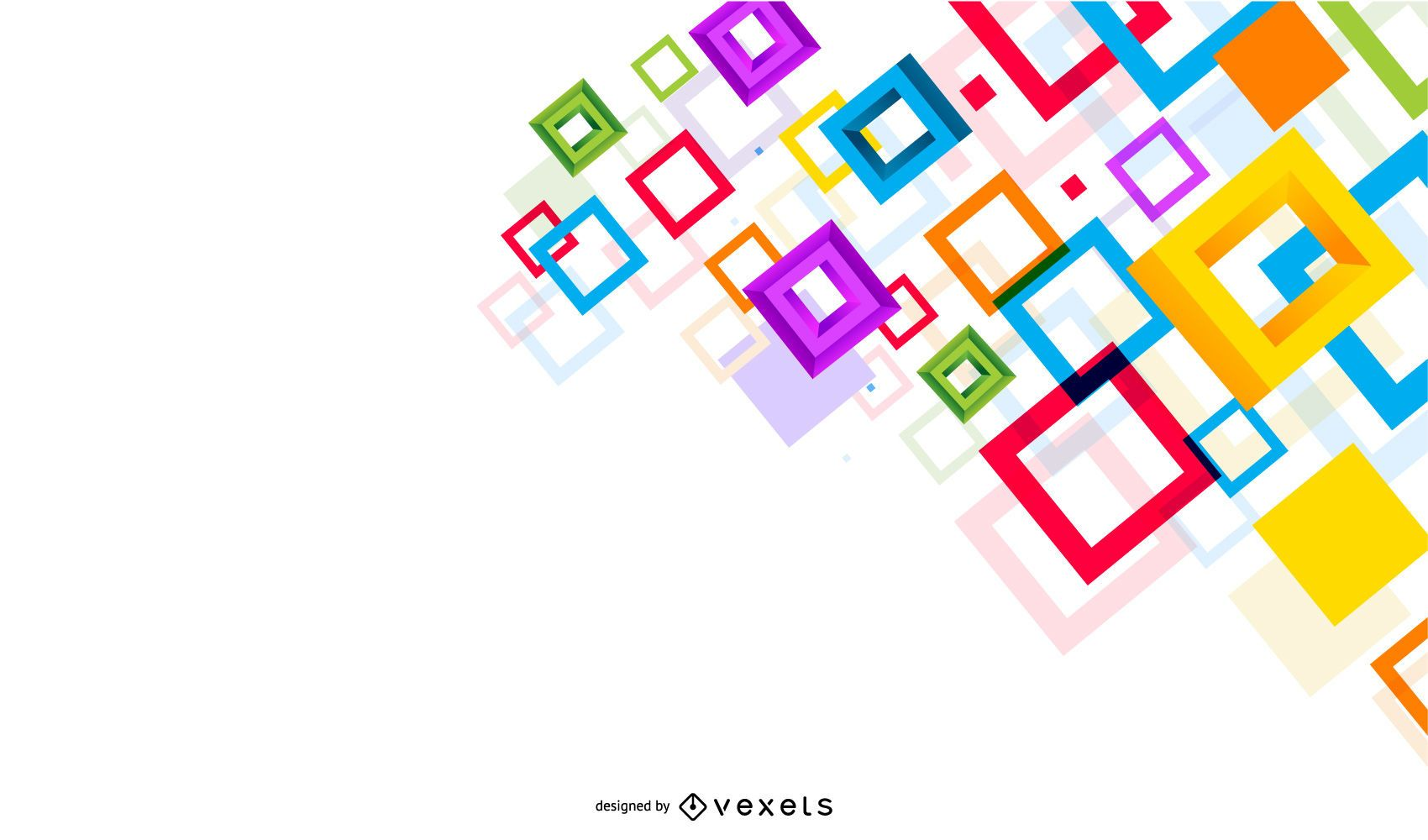 Twisted Colorful 3D Squares Background