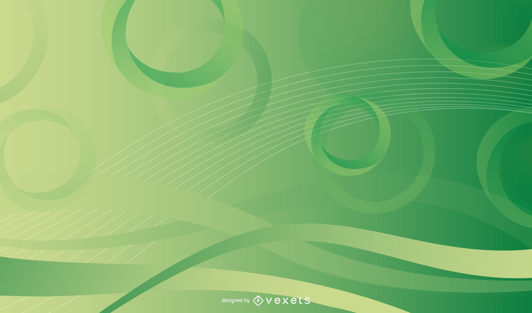 Glossy Circles & Rings Background