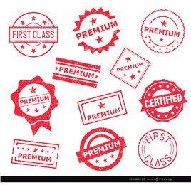 11 selos de selo Premium