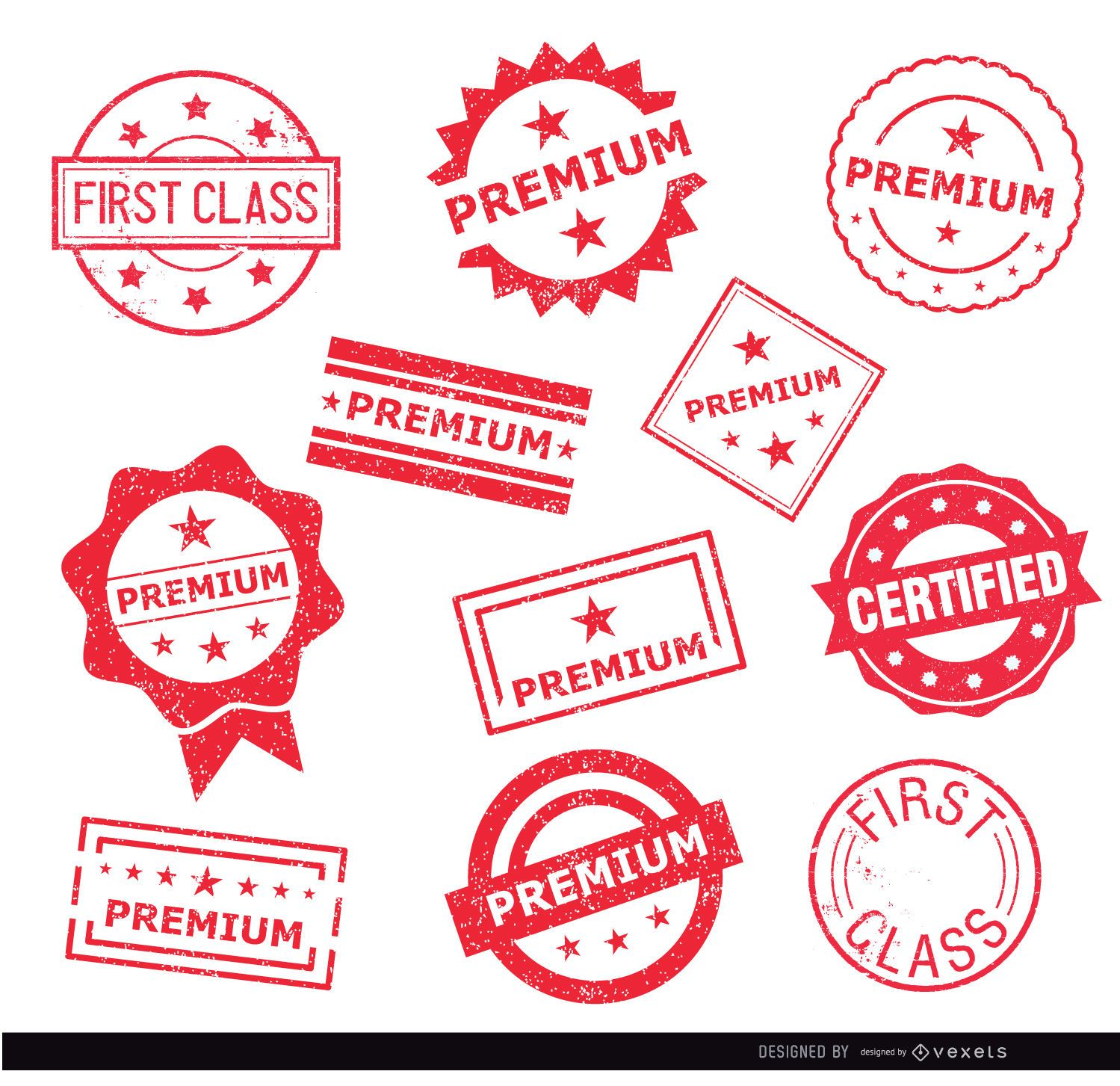 11 sellos de sello premium
