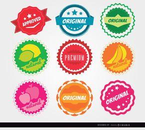 9 selos de círculo de qualidade
