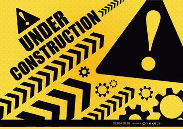 Sob aviso da construção
