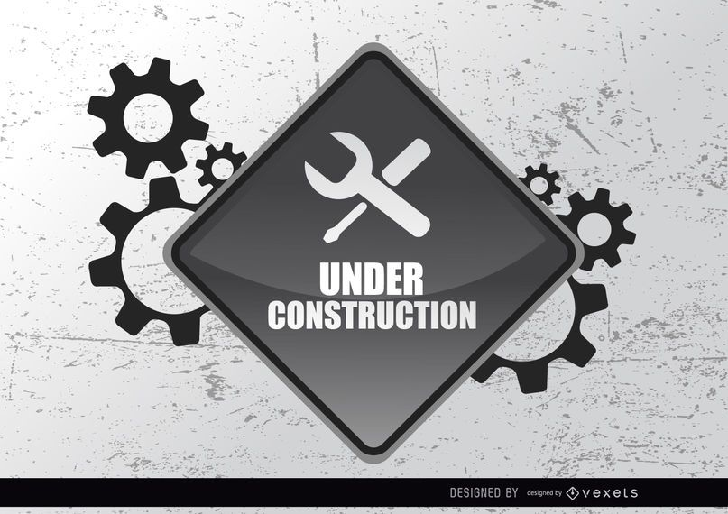 Im Bau Zeichen Getriebe