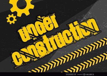 Bajo cartel de construcción
