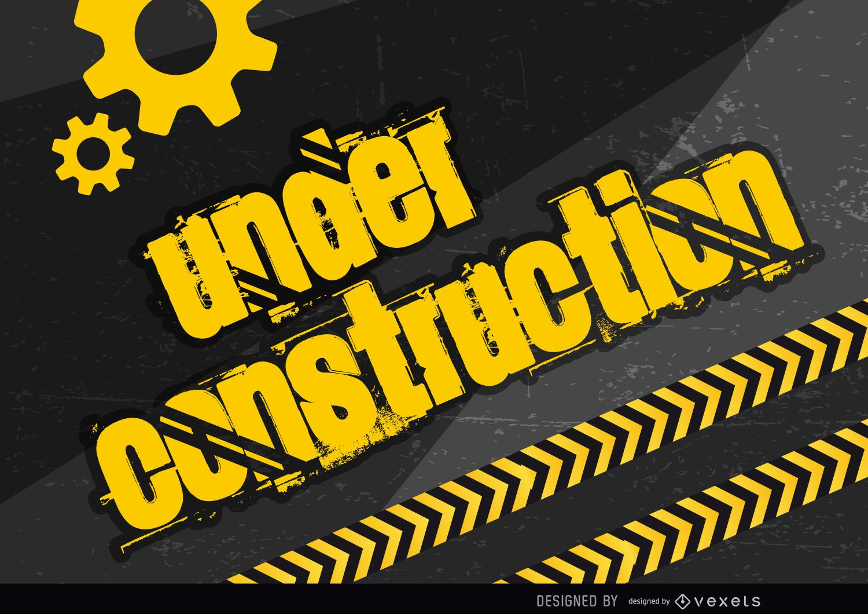 Under construction placard