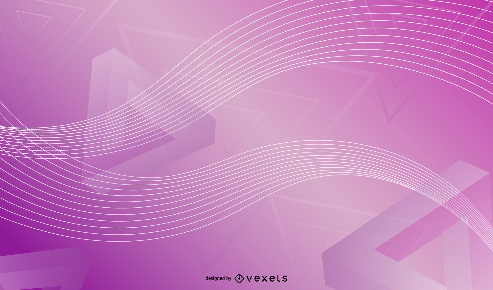 Fondo abstracto brillante triángulos 3D