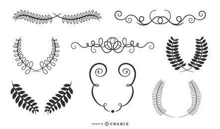 Hand Drawn Vintage Border Ornaments