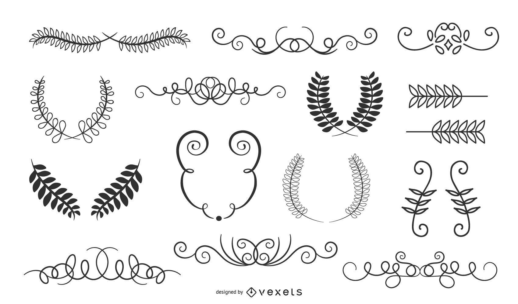 Hand Drawn Vintage Border Ornaments