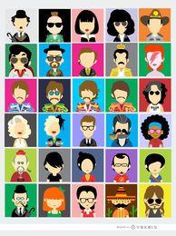 30 avatares de personas famosas