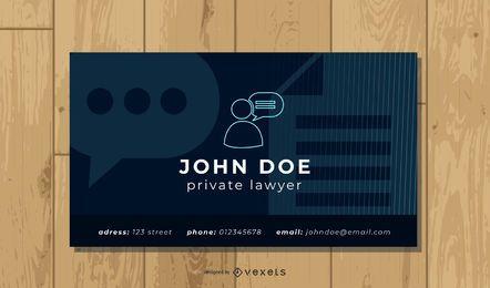 Einfacher Rechtsanwalt Visitenkarte Vorlage