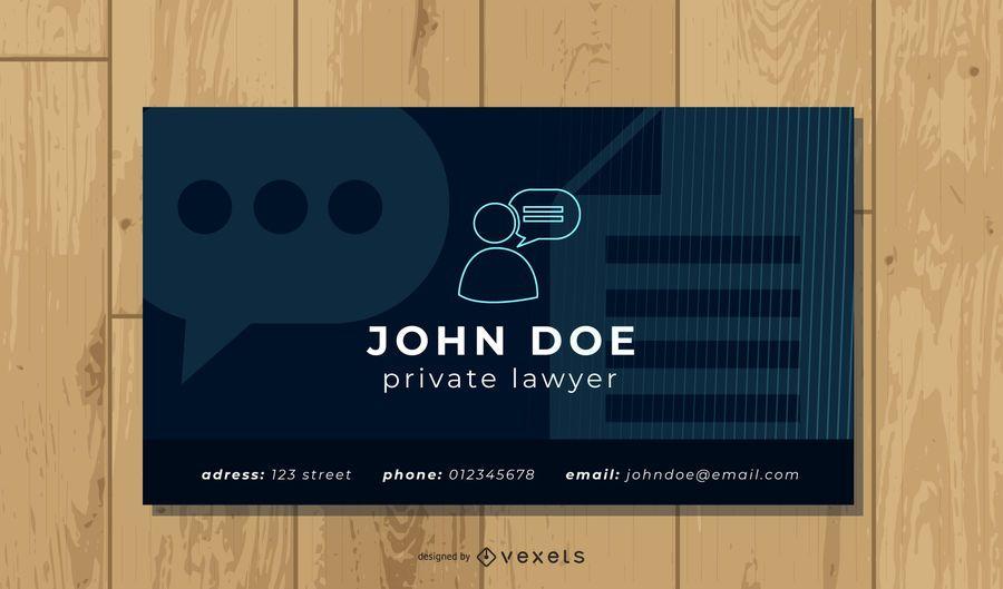 Modelo de Cartão-de-visita - advogado simples