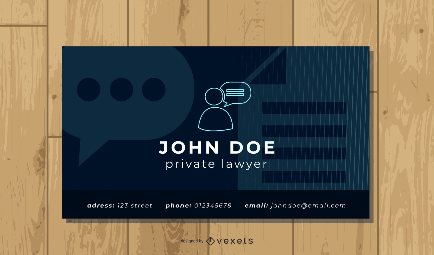 Simple Lawyer Business Card Template