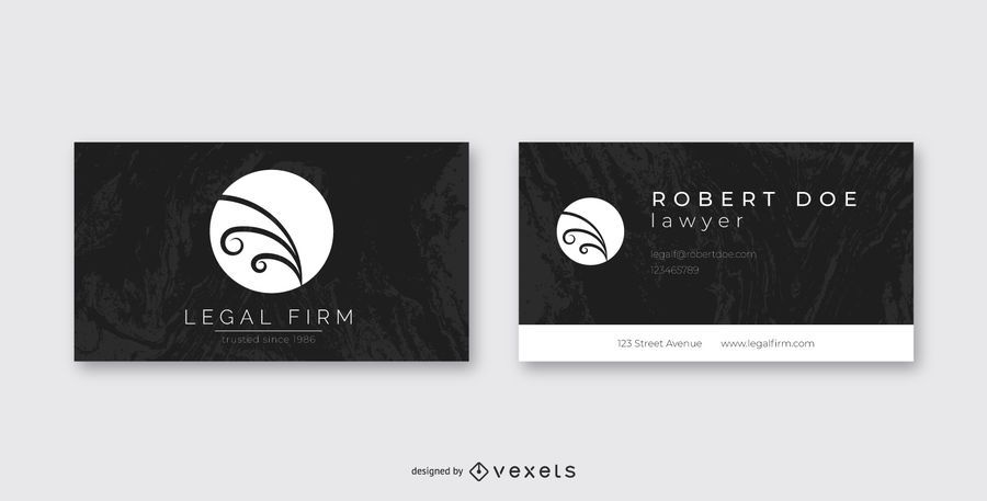 Dark Creative Lawyer Business Card