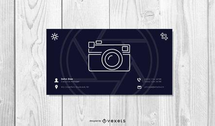 Cartão de visita mínimo da fotografia