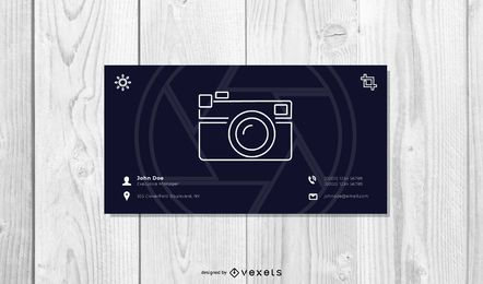 Minimal Photography Business Card Design