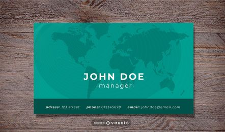 World Map Corporate Business Card Template