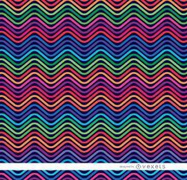 Padrão de ondas coloridas