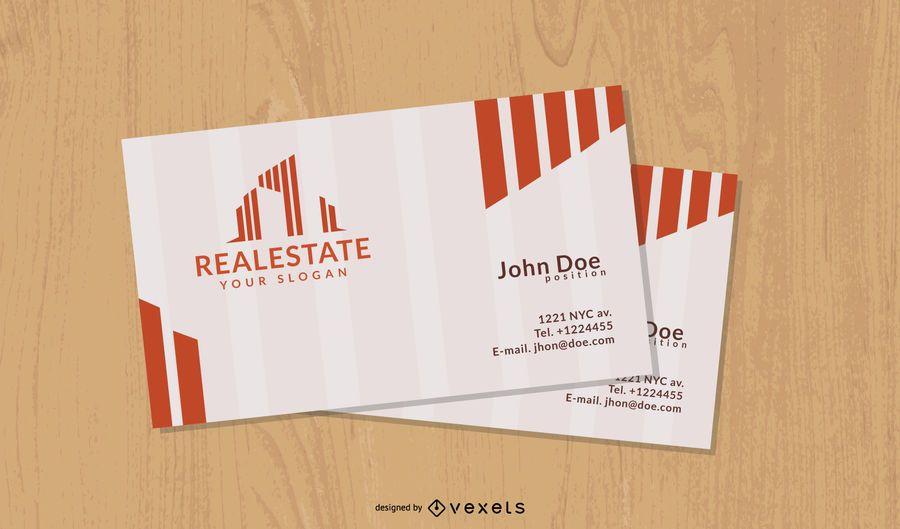 Cartão criativo dos bens imobiliários