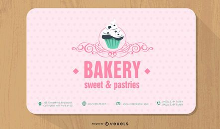 Bakery Round Corner Business Card Template