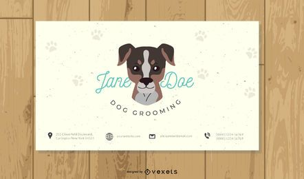 Tarjeta de visita simple del Groomer del perro