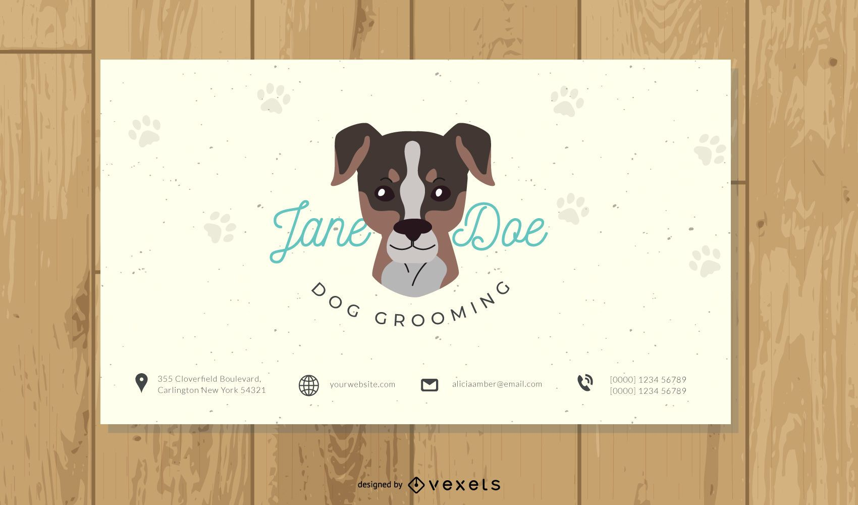 Dog Grooming Business Card Template