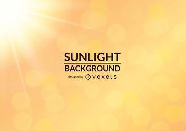 Fundo brilhante da luz do sol realista