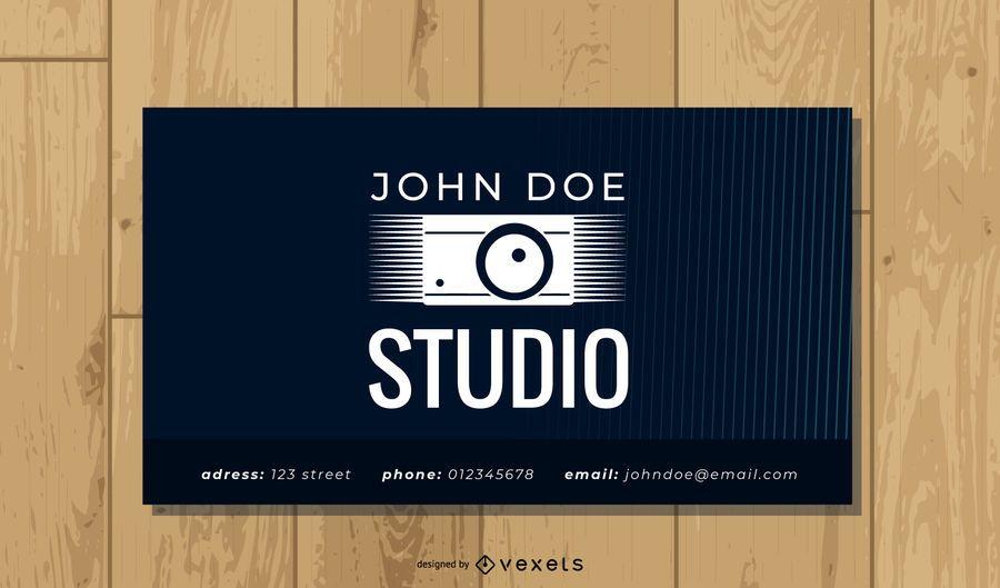 Cartão de visita de fotografia profissional criativa