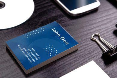 Cartão de visita de marketing vertical