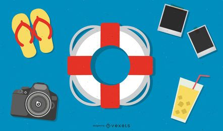 Summer Concept Vectors Set