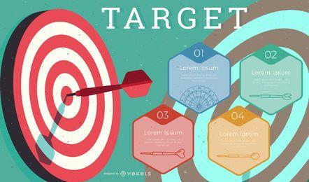 Targeting von Dartboard-Infografik