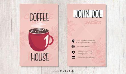 Plantilla de tarjeta de visita alta de cafetería